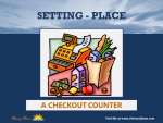Setting (Place) - A Checkout Counter