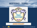 Setting (Time) - Anniversary