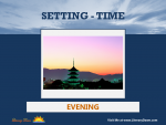 Setting (Time) - Evening